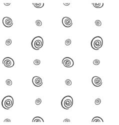 Spiral imitation ink on a white background vector image vector image