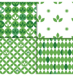 spring leaves patterns vector image vector image