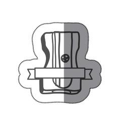Sticker silhouette monochrome with pencil vector