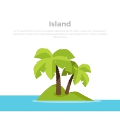 Tropic Island Concept Banner vector image vector image