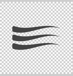 Wave icon flat vector