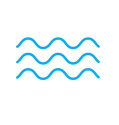 Wave icon in trendy flat style isolated on white vector