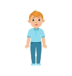 White boy kid standing part of growing stages vector