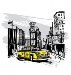 yellow cab vector image vector image