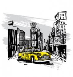 yellow cab vector image