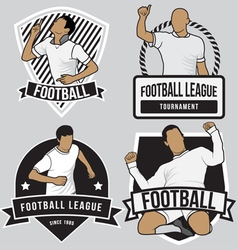 Football soccer badges patches vector