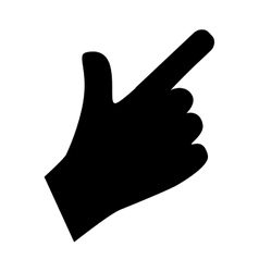 Hand with finger touching something vector