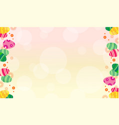 Greeting card easter theme style vector
