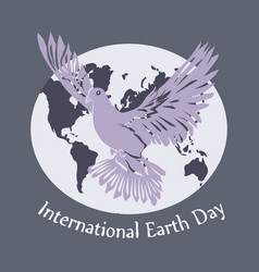 International day of peace dove of vector