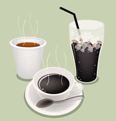 Hot iced coffee background vector