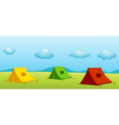 3 tents vector image