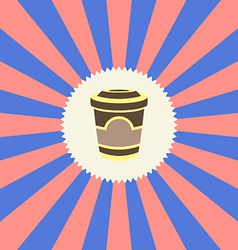 Food and drink theme cappuccino vector