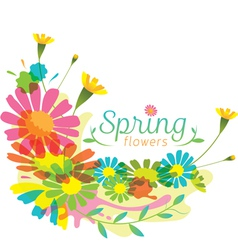 Flowers spring season heading vector