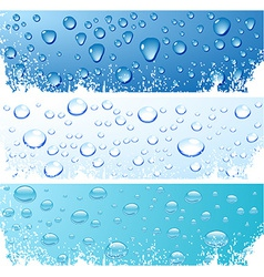 Bubbles in water vector