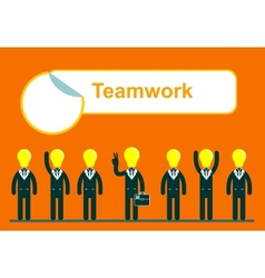 Teamwork web of business people vector