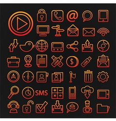 46 icons communication set vector image vector image