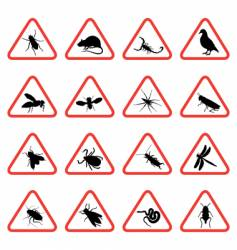 Pest warning signs vector