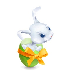 Cartoon easter rabbit vector