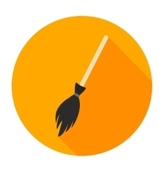 Witches broom flat vector
