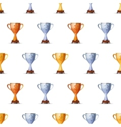 Cups of winners award for first second and third vector image