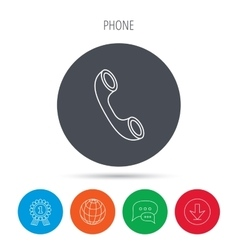 Phone icon call sign vector