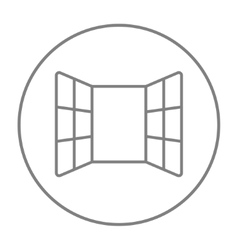 Open windows line icon vector