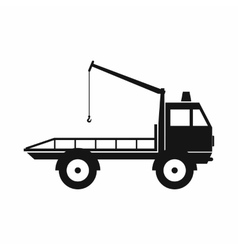 Car towing truck icon simple style vector