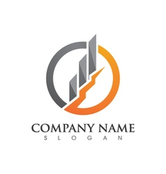 Business finance logo vector
