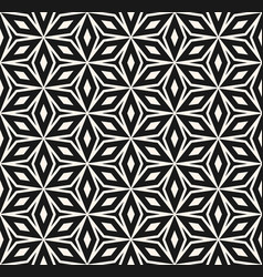 abstract geometric seamless pattern monochrome vector image