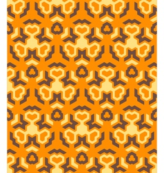 abstract geometric yellow orange brown seamless vector image vector image