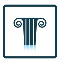 Antique column icon vector image vector image