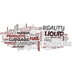 Are your beauty supplies banned text background vector