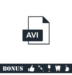 AVI icon flat vector image vector image