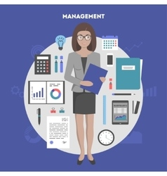 Banner management and administration vector