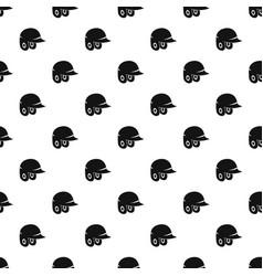 Baseball helmet pattern vector