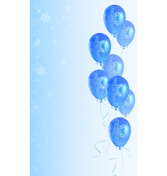 Christmas background with balloons vector image vector image