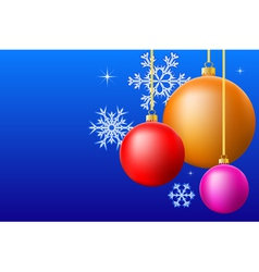 Christmas balls background vector image vector image