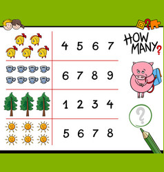 counting activity for kids vector image