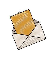 drawing email message communication web vector image