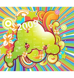 Fresh Summer 2009 Calendar vector image vector image