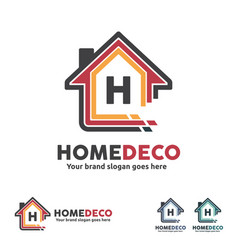 home decorate logo vector image vector image