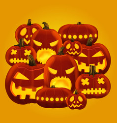 Horror halloween pumpkin vector