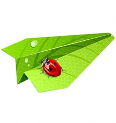 Leaf airplane vector
