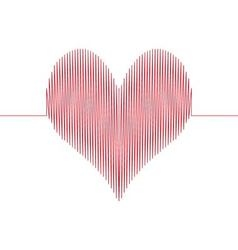 love wave heart vector image vector image