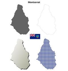 Montserrat outline map set vector