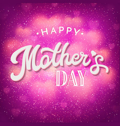mothers day card with shiny blurred hearts vector image vector image