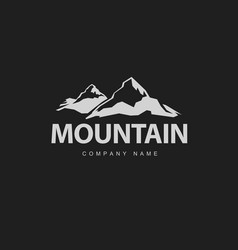 mountains logo template vector image