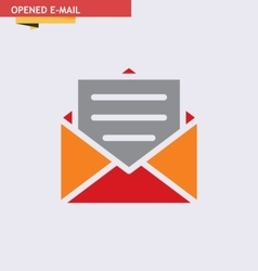 Opened-e-mail vector