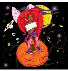 pumpkin punk vector image vector image