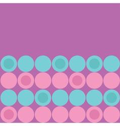 Round dot pattern background Blue Pink Purple vector image